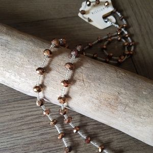 Van Huesen orange beaded necklace